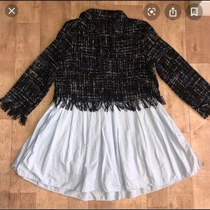 Zara Contrasting Tweed top